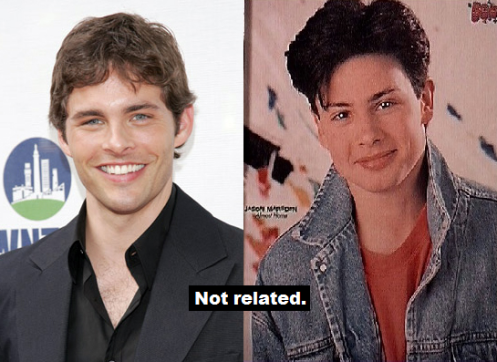 James Marsden (left), Jason Marsden (right)